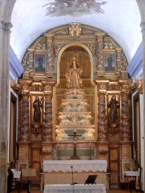 Altar mayor de la iglesia del convento de Santa María da Caridade, Sardoal
