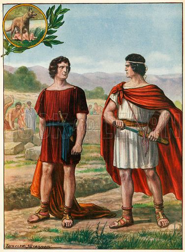 the legend of romulus and remus The legend of romulus and remus (traditional date - 753 bc) according to an ancient legend, the powerful greeks had come to the city of troy (located near the west coast of modern turkey) to wage a big war and killed almost everyone.