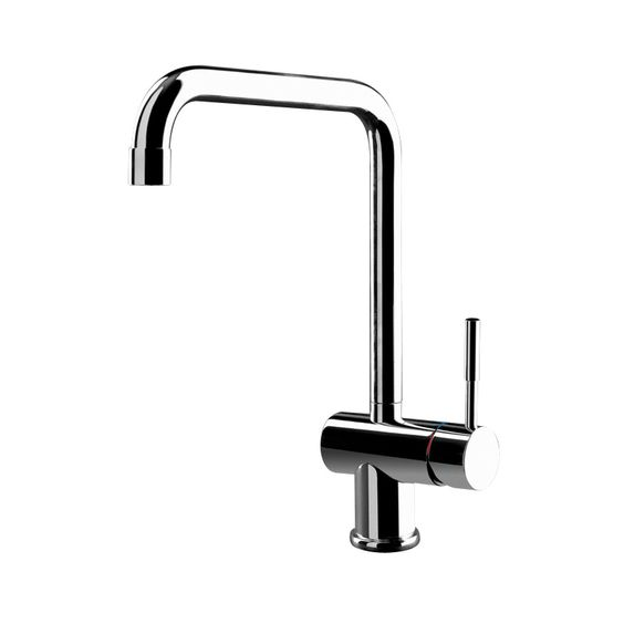 Gessi OXYGEN Monobloc With Square Spout in brushed steel