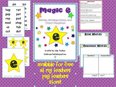 magic e activities that are free to download includes word cards sorting mats and templates to. Black Bedroom Furniture Sets. Home Design Ideas