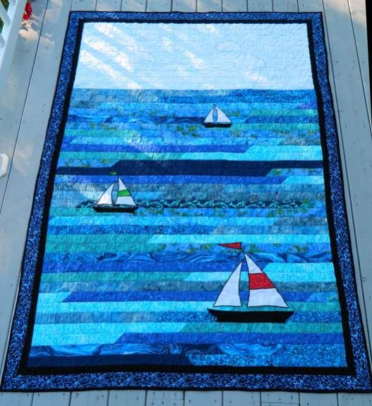 Boat Quilt Fabric Sailboat Quilt 2 Sailboat Two Jpg