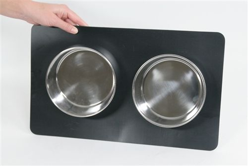 FrostyBowlz Magnetic Matz & Two 36 oz. Magnetic Bowls - keeps pets from pushing their bowls around