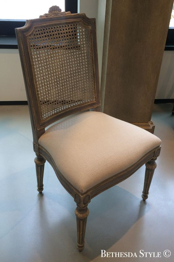 Bethesdastyle cane back dining chair by dennis leen for Cane back dining chairs design