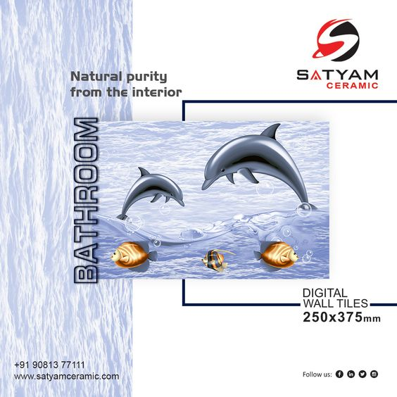 Natural Purity From The Interior Satyam Ceramic Digital Wall Tiles 250x375 Mm Satyamceramic Satyamtiles Digitalwalltile Digital Wall Wall Tiles Ceramics