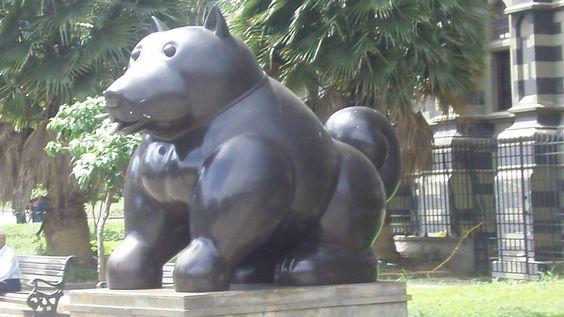 Botero statues are all over Medellin, Colombia.