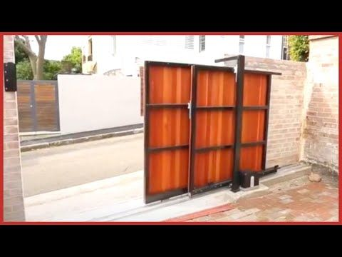Automatic Electric Sliding Folding Gates For Driveway And Garage Youtube In 2020 Driveway Gate Electric Driveway Gates Electric Sliding Gates