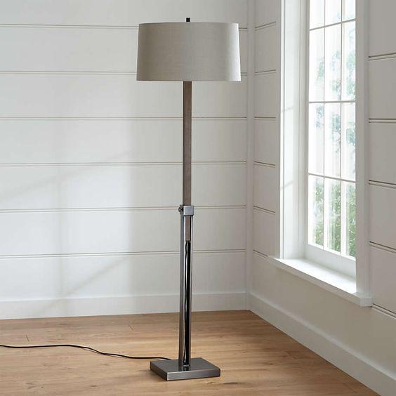 Denley Nickel Floor Lamp Reviews Crate And Barrel Nickel Floor Lamp Bronze Floor Lamp Floor Lamp