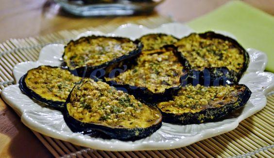 Chips de Berinjela ao Forno com Gergelim ~ Veganana