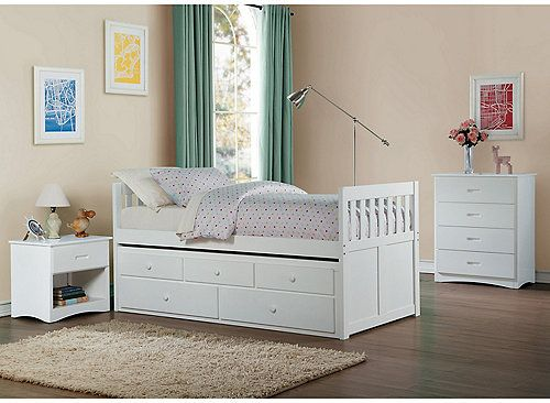 Carissa Twin Trundle Bed With Storage With Images Twin Trundle