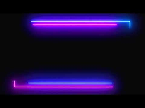 Blue And Pink Beautiful Neony Light Glowing Light Frame Border Loop Video Black Screen Vfx Effects In 2021 Frame By Frame Animation Animation Background Greenscreen