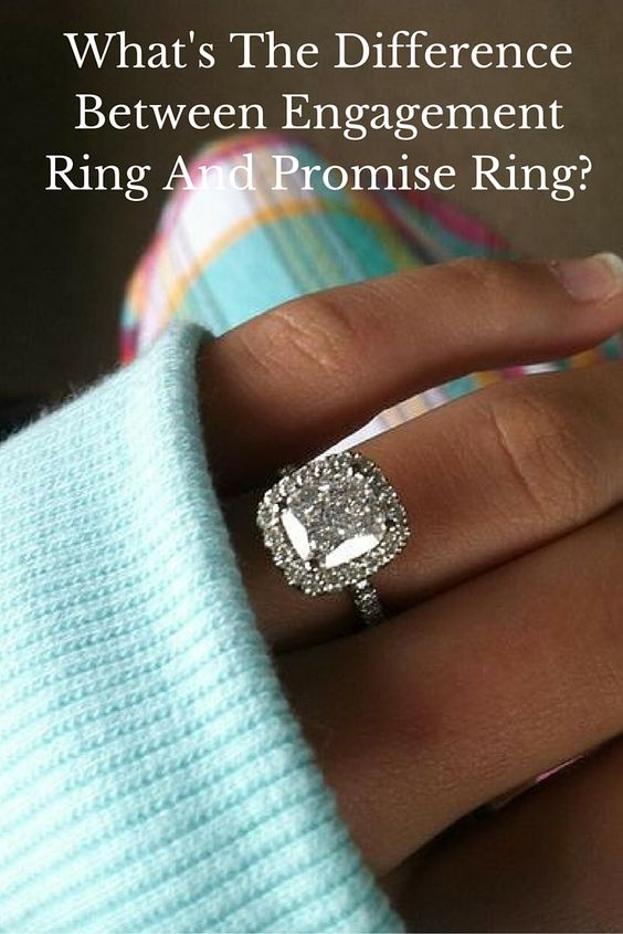 what s the difference between engagement ring and promise
