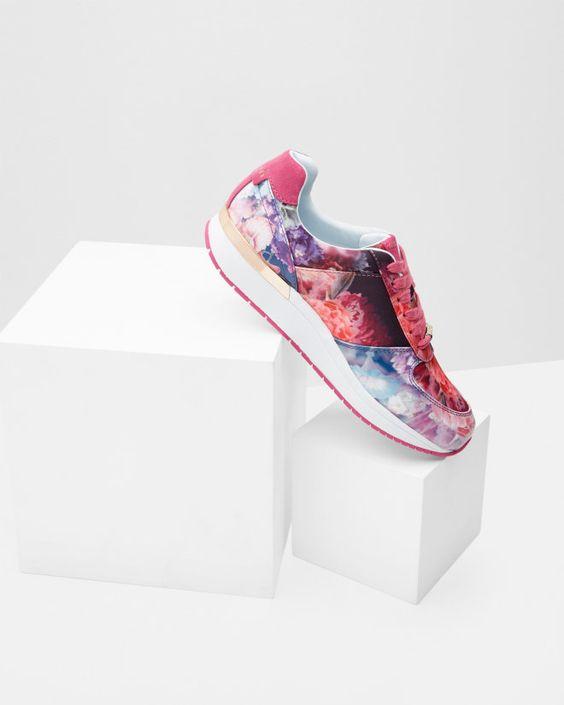 Floral print trainers - Powder Blue   Footwear   Ted Baker UK