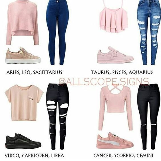 Zodiac Signs Outfits Pink Outfits Zodiac Clothes Zodiac Sign Fashion Trendy Outfits