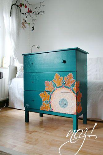VINTAGE & CHIC: decoración vintage para tu casa [] vintage home decor: Pura magia (o de cómo actualizar una cajonera) [] Pure magic (or an amazing makeover)