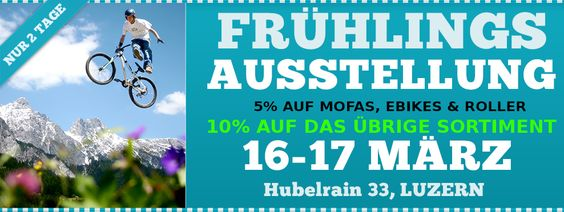 Webbaner für Frühlingsaustellung www.2radshopschweiz.ch