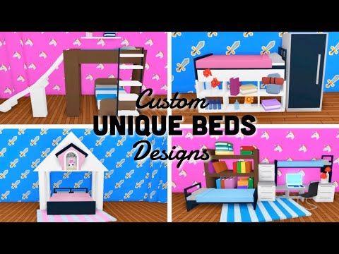Custom Unique Beds Design Ideas Building Hacks Roblox Adopt Me Youtube Unique Bed Design Simple Bedroom Design Cute Room Ideas
