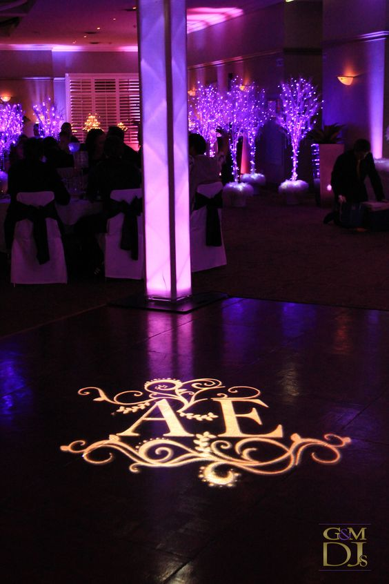 Wedding monograms monograms and towers on pinterest for Diy wedding reception lighting