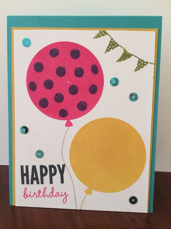 Celebrate Today balloon card. Stampin up Occasions catalog 2015