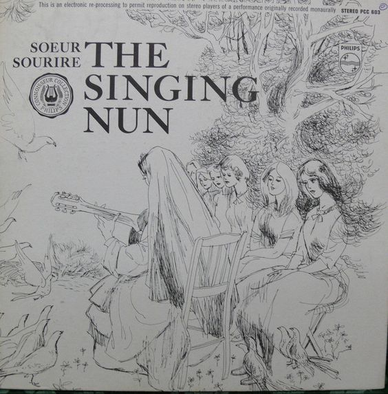 Soeur Sourire THE SINGING NUN LP HIGH GRADE Storybook And Watercolor Inserts #Christian