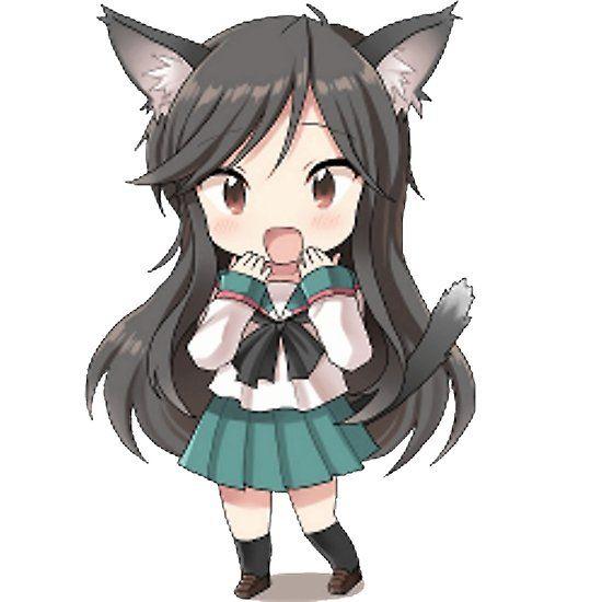 Cute Chibi Anime Nekomimi Girl Anime Chibi Cat Girl Chibi