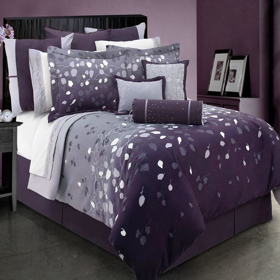 Best Leaves Gray To Purple Bedding Home Is Where The Heart Is Pinterest Finals Cheap Duvet 400 x 300