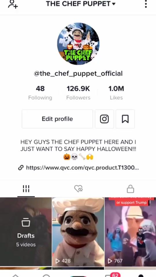 The Chef Puppet The Chef Puppet Official Tiktok Watch The Chef Puppet S Newest Tiktok Videos Tiktok Watch Puppets Happy