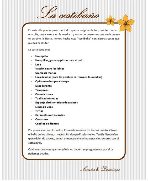 Cosines de Picuni: CESTIBAÑOS