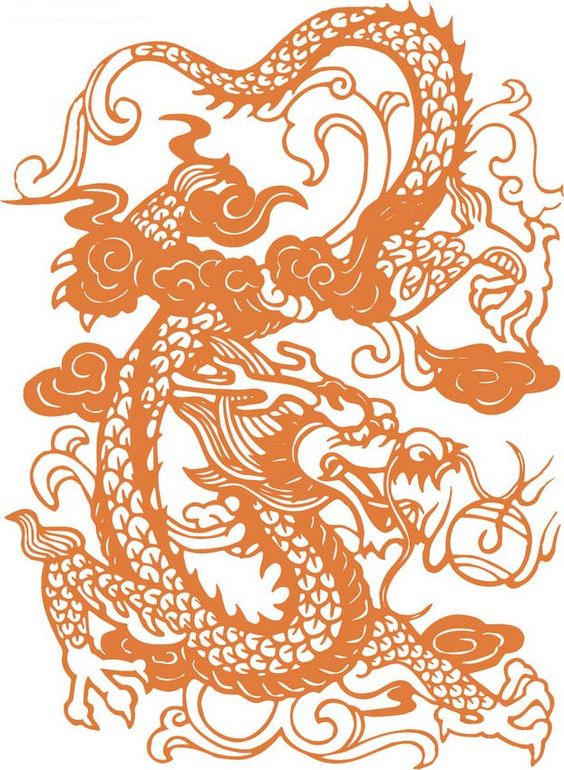 Traditional Chinese papercut of a dragon  ada 33  Pinterest