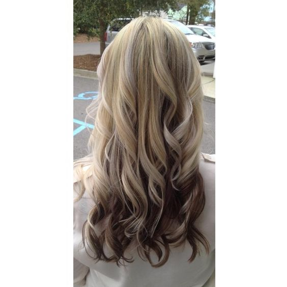 Need this hair in my life Blonde hair on top brown underneath with ...
