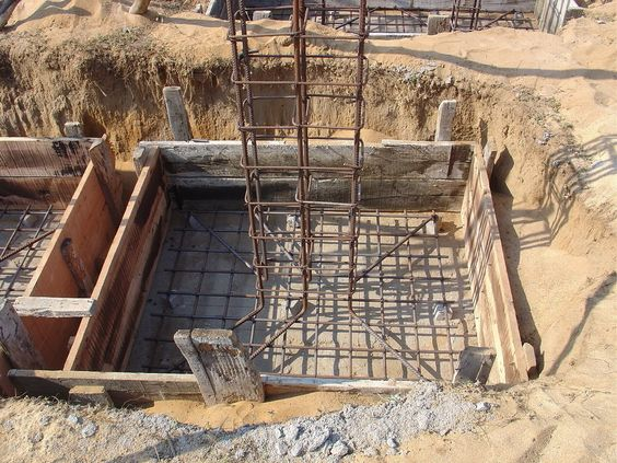 How To Build A Column Footing Foundations Pinterest