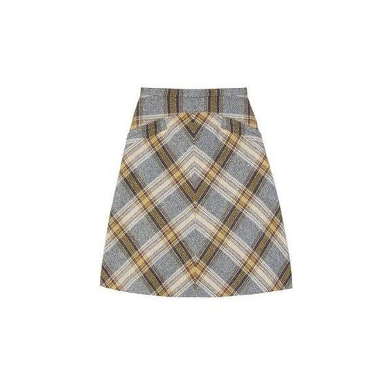 Miu Miu Tartan skirt | AnOther | Loves ❤ liked on Polyvore