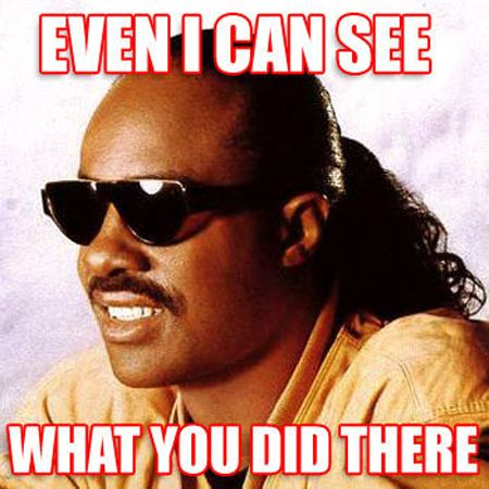 Stevie Wonder Sees What You Did  Check out more funny pics at killthehydra.com