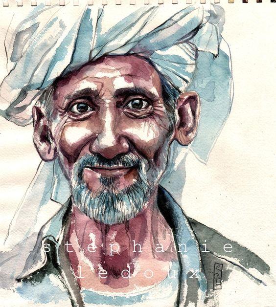 Stéphanie Ledoux - Carnets de voyage: Le papi d'Hadibo: