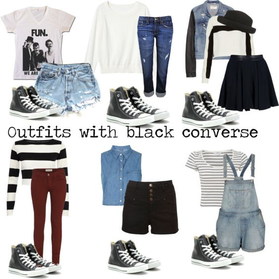 \u0026quot;Outfits with black converse\u0026quot; by eleanorcalderstyleinspired ❤ liked on Polyvore. \u0026quot;