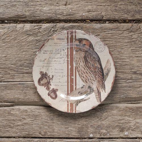 "Found it at Wayfair - 10"" Melamine Woodsy Owl Dinner Plate"