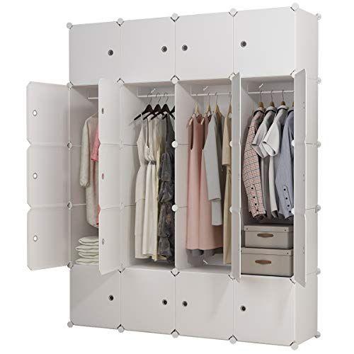 Kousi Portable Clothes Closet Clothing Storage Plastic Dresser Shelves Armoire Wardrobe Moving Boxes Rack Wardrobe Moving Boxes Dresser Shelves Plastic Dresser