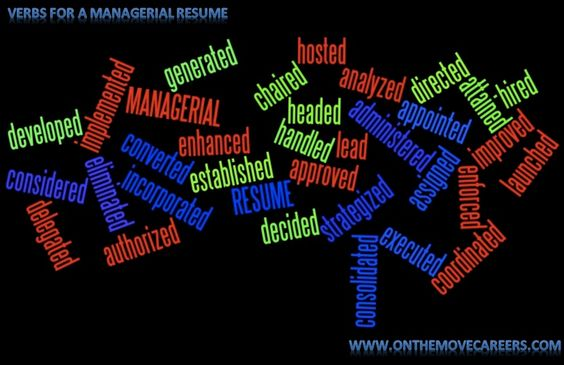 Keywords for a Managerial resume.