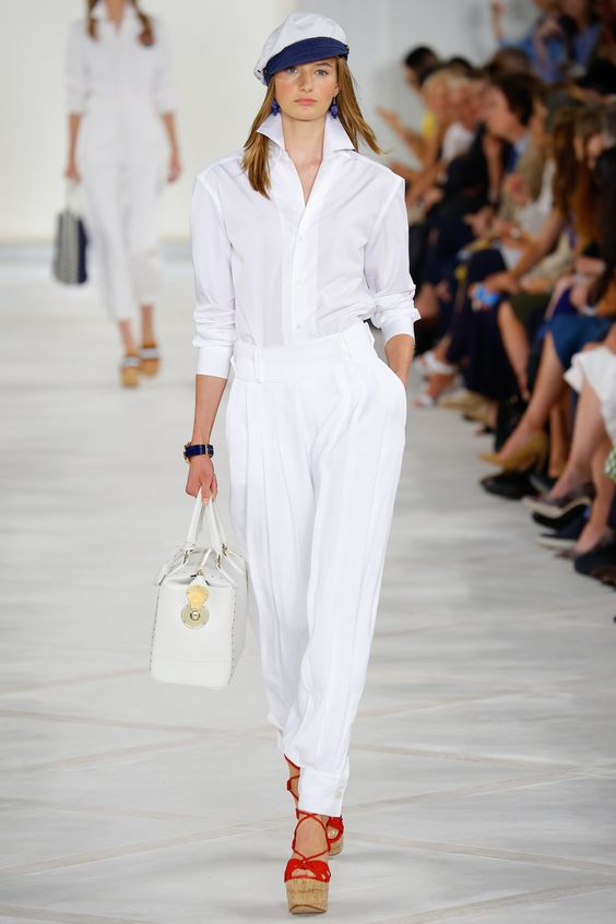 Ralph Lauren Spring 2016 Ready-to-Wear Look 1: