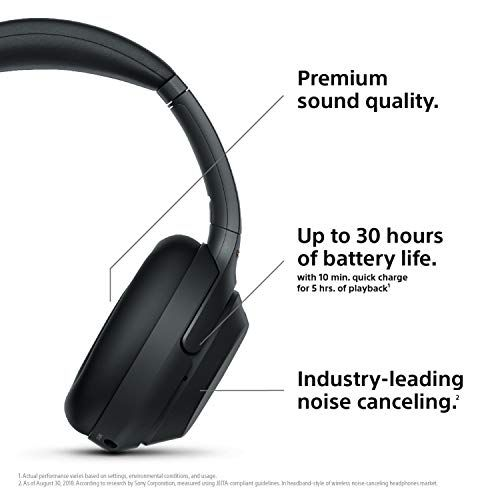 Sony Wh1000xm3 Wireless Industry Leading Noise Canceling Overhead Headphones Wh 1000xm3 Headp Noise Cancelling Headphones Headphone With Mic Noise Cancelling