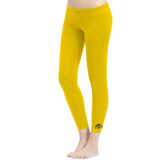 Iowa Hawkeyes Ladies Gold Capri Leggings | Iowa Gear | Pinterest ...