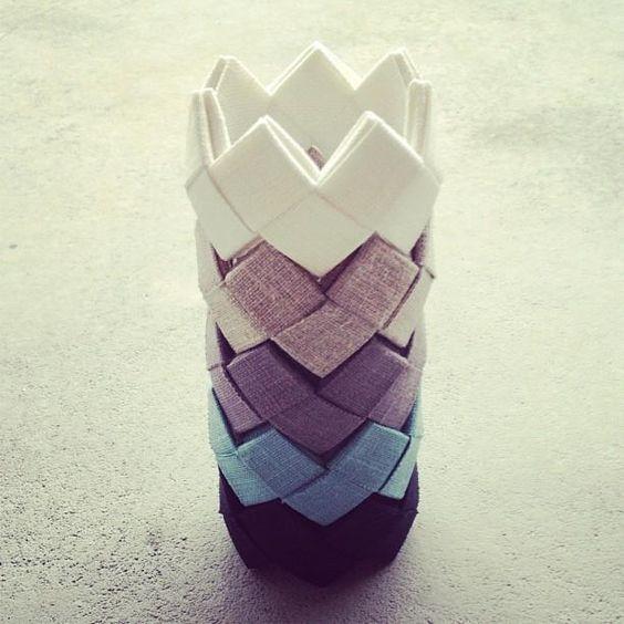Bracelet origami en tissu