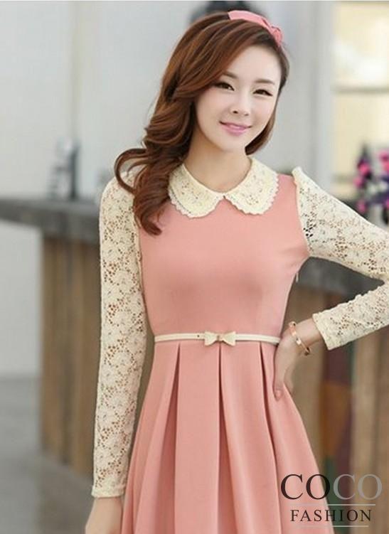 cute korean dresses with sleeves wwwimgarcadecom