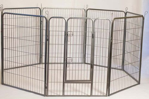 Heavy Duty Metal Tube Pen Dog Exercise and Training Playpen / Kennel
