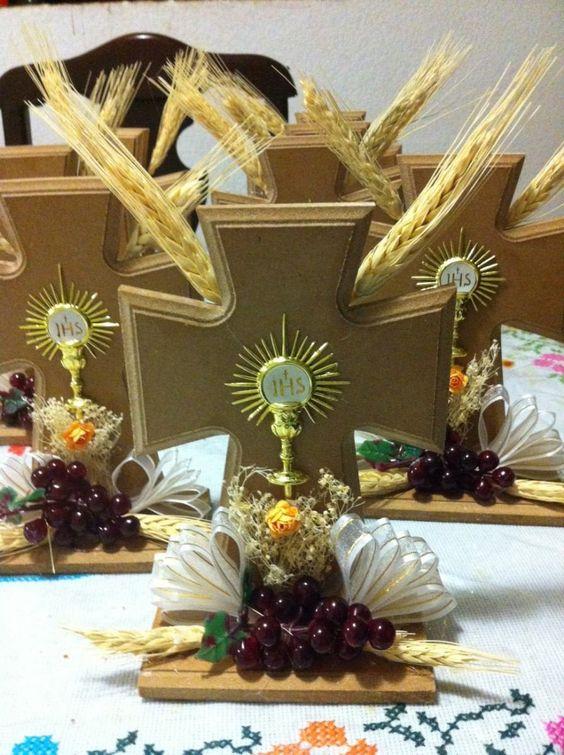 Centro de mesa primera comunion decoracion mdf - Adornos para primera comunion ...
