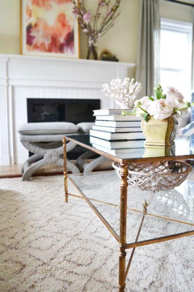 Coffee table decor: http://www.stylemepretty.com/living/2015/06/01/charming-living-room-retreat/ | Design: Rehabitat - http://rehabitat-interiors.com/