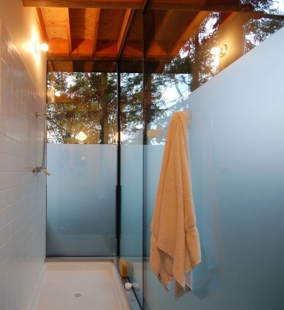 Terrific shower that is almost open-air...