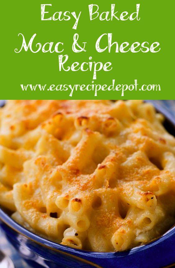 Easy Baked Macaroni and Cheese | Recipe | Baked Macaroni, Macaroni and ...