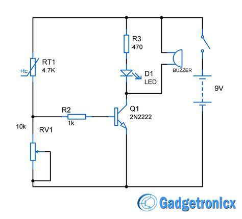 Heat Sensor Circuit Diagram Gadgetronicx Circuit Diagram Sensors Technology Circuit Design