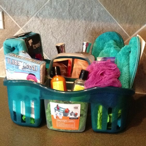 Pack a loofah in your shower caddy!