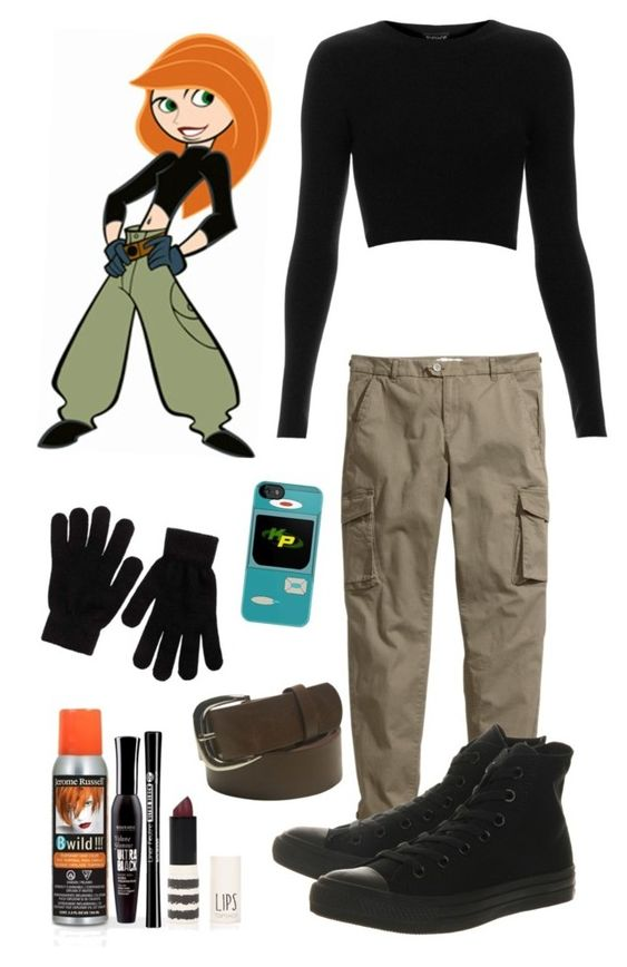 """DIY Halloween costume: Kim possible"" by crazydirectionergirl ❤ liked on Polyvore:"